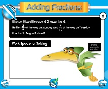 Adding Fractions: Different Denominators - Smartboard Lesson