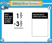 Adding Mixed Numbers: Same Denominators - Smartboard Lesson