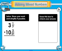 Adding Mixed Numbers: Different Denominators - Smartboard Lesson