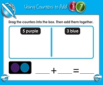 Adding with Counters (Up to 10) - Smartboard Lesson