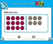 Adding with Counters (Up to 20) - Smartboard Lesson