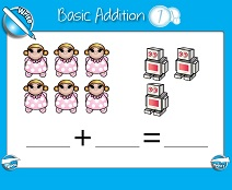 Basic Addition (Sums Up to 10) - Smartboard Lesson