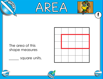 Area (Counting Squares) - Smartboard Lesson