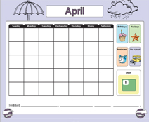 April Calendar (Weather & Morning Meeting) - Smartboard Lesson