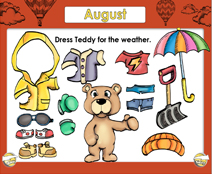 August Calendar (Weather & Morning Meeting) - Smartboard Lesson
