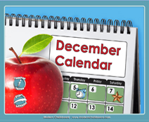 December Calendar (Weather & Morning Meeting) - Smartboard Lesson