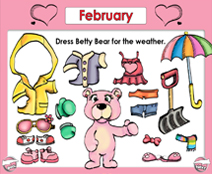 February Calendar (Weather & Morning Meeting) - Smartboard Lesson