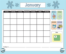 January Calendar (Weather & Morning Meeting) - Smartboard Lesson