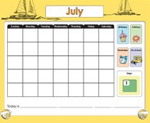 July Calendar (Weather & Morning Meeting) - Smartboard Lesson