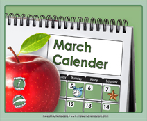 March Calendar (Weather & Morning Meeting) - Smartboard Lesson