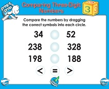 Comparing Three-Digit Numbers - Smartboard Lesson