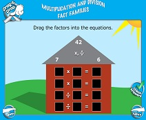 Basic Multiplication & Division: Fact Families - Smartboard Lesson