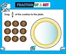 Fractions of a Set (Very Basic) - Smartboard Lesson
