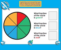 Introduction to Fractions (Very Basic) - Smartboard Lesson