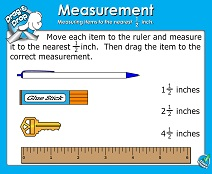 Linear Measurement: Half-Inch - Smartboard Lesson