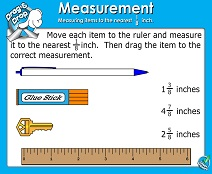 Linear Measurement: Eighth Inch - Smartboard Lesson