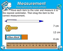 Linear Measurement: Centimeters - Smartboard Lesson