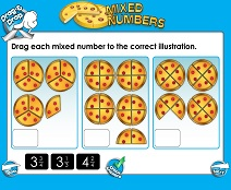 Mixed Numbers (Basic) - Smartboard Lesson