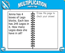 Multiplication: 2-Digit by 2-Digit - Smartboard Lesson