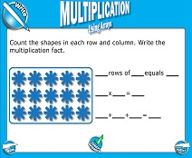 Basic Multiplication with Arrays - Smartboard Lesson