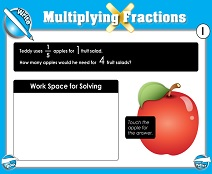 Multiplying Fractions - Smartboard Lesson