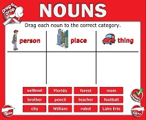 Introduction to Nouns - Smartboard Lesson