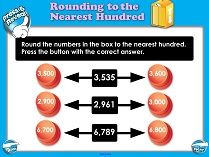 Rounding to the Nearest 100 (Intermediate) - Smartboard Lesson