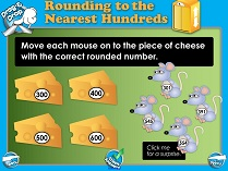 Rounding to the Nearest 100 (Basic) - Smartboard Lesson
