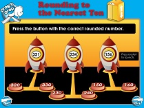 Rounding to the Nearest 10 (Intermediate) - Smartboard Lesson