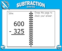 math worksheet : smart board lessons  subtraction : Subtraction Across Zeros Worksheets Grade 3