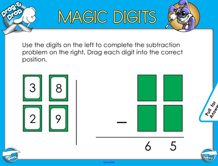 Magic Digits Subtraction - 2 Digit - Smartboard Lesson