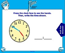Telling Time (Nearest Five Minutes) - Smartboard Lesson