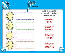 Telling Time (Advanced) - Smartboard Lesson