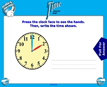 Telling Time (Nearest Hour; Very Basic) - Smartboard Lesson